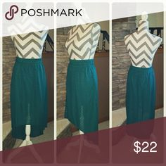 **Highly Skirt** Like new, elastic waist band and super comfy! Teal in color. Skirts