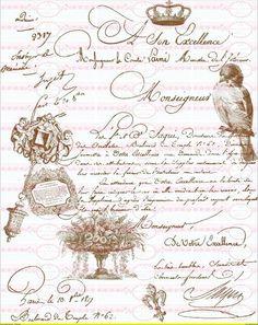 Vintage Shabby French Schrift Paris DIN A4 von Doreen`s Bastelstube  - Kreativ & Außergewöhnlich auf DaWanda.com