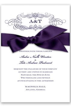 Down the Aisle Wedding Invitation in Lapis by David's Bridal