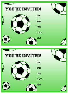 Free Printable Soccer Birthday Party Invitations from PrintableTreats.com