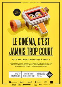 Fête des courts-métrages 2015, Paris #festival https://fr.pinterest.com/igreka2n/festival/