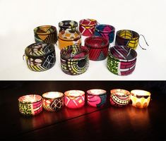 circle wall decoration in African fabric, embroidery, various sizes, pattern and choose your size Glass Candle Cover, Afro, African Theme, African Accessories, African Home Decor, Yellow Pattern, Black Pattern, Decoration Originale, Tye Dye