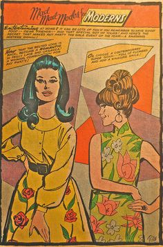 1960s Mod Womenswear Fashion Women Comic Book