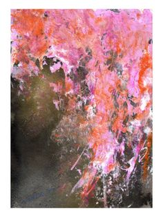 """Abstract - """"flower that booms at night"""" - Mariko Miyake"""