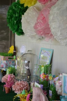 Party decor using mainly dollar store items!