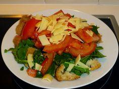 natassa's bake blog: Σαλάτα ρόκα με παξιμάδια #rocket #salad