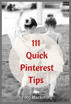 111 quick Pinterest tips to help you promote your business, optimize your content, grow the number of followers and much more. #JoinThePinterestParty