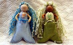 Tutorial for making Seaside Mermaids from Wee Folk Art.