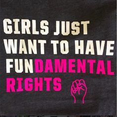 "@pattychase919 wearing Cyndi Lauper's ""Girls Just Want to Have Fundamental Rights"" shirt!"