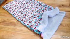 9eca2a5262a Dog sleep sack tutorial. Burrow bag. Dachshund snuggle blanket
