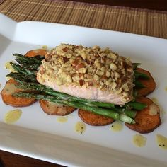 Easy Dinner - Salmon, Sweet Potatoes, Asparagus - 21 Day Fix