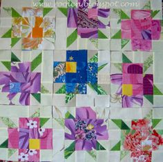 Patchwork geometry: Flower meadow
