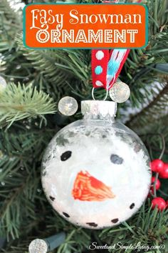 Easy Snowman Ornament - Sweet and Simple Living