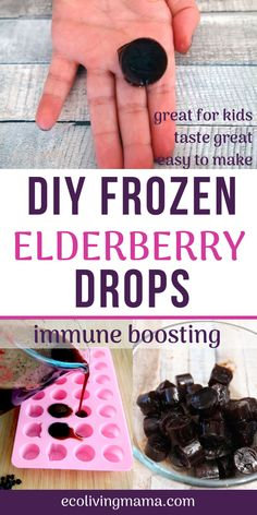 Wondering how to store that precious homemade elderberry syrup you worked so hard to make? Turn it in to frozen elderberry drops! These bite sized, perfectly portioned frozen drops keep for months in the fridge and are so easy for kids to take. Elderberry Gummies, Elderberry Recipes, Elderberry Syrup, Flu Remedies, Herbal Remedies, Eczema Remedies, Cough Remedies For Adults, Natural Health Remedies, Herbal Medicine