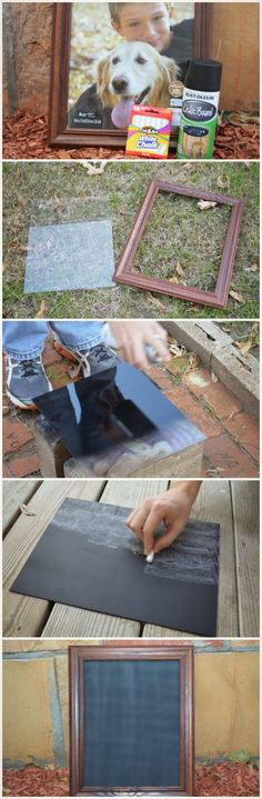 DIY Chalkboard! Perfect to decorate any holiday!
