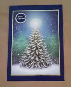 Handmade 5 x 7 Christmas Card by BavsCrafts on Etsy