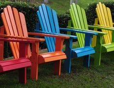 Superieur Colorful Adirondack Chairs