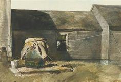 Dry Well (Rain Barrel) By Andrew Wyeth