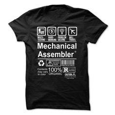 MECHANICAL ASSEMBLER T-Shirts, Hoodies. GET IT ==► https://www.sunfrog.com/Faith/Hot-Seller--MECHANICAL-ASSEMBLER.html?id=41382