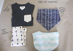 favorite baby gift essentials   comfy leggings for boys   contrast pocket tee   bandana drool bibs