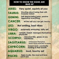 How to know if the signs are mad asf