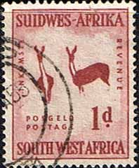 South West Africa 1954 Rock Paintings Two Bucks Fine Used SG 154 Scott 249 Other African and British Commonwealth Stamps HERE! Union Of South Africa, Stamp World, South Afrika, Vintage Stamps, African Animals, West Africa, Mail Art, Stamp Collecting, My Stamp