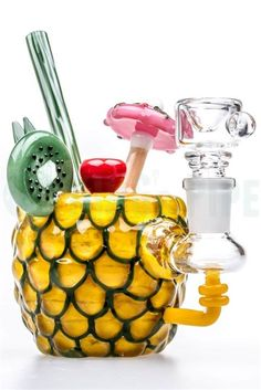 EMPIRE GLASSWORKS - MINI PINEAPPLE PARADISE OIL RIG on KING's Pipe Online Headshop #420 #710
