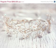 Black Friday SALE Wedding hairpiece Wedding hair by ArsiArt, $76.50
