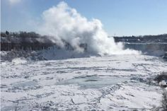 Spectacular Views of Frozen Niagara Falls: Make a day trip to the Falls.