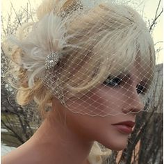 Hand Made Wedding Feather Hair Clip Fascinator Headpieces Fascinators 027 2016 - €19.59