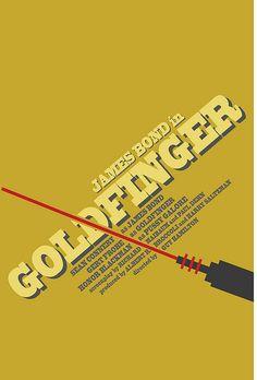 Goldfinger (1964) ~ Minimal Movie Poster by Alex Eylar #amusementphile