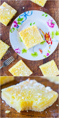 The Best Lemon Bars - Good old-fashioned lemon bars that pack a punch of big time lemon flavor, without being too tart or too sweet! I love lemon bars:) Lemon Desserts, Lemon Recipes, Just Desserts, Sweet Recipes, Dessert Recipes, Bar Recipes, Recipies, Best Lemon Bars, Breakfast Desayunos