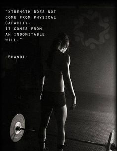 The picture may have a barbell, but when the mind and the body work together great things can happen. Trust, believe, willpower, strength.