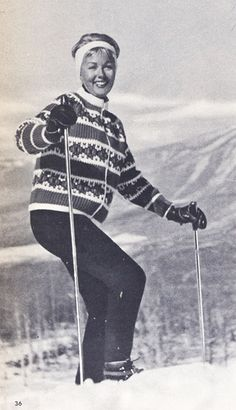 Knitspiration :: Vintage Ski Knits |Pinned from PinTo for iPad|