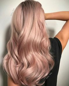 Soft Tones by Guy Tang Hair Artist. Formula:Lifted to a level 10 using Guy Tang . Soft Tones by Gu Blond Rose, Cabelo Rose Gold, Gold Blonde Hair, Brunette Hair, Pastel Pink Hair, Bright Hair, Dusty Pink Hair, Light Pink Hair, Peach Hair
