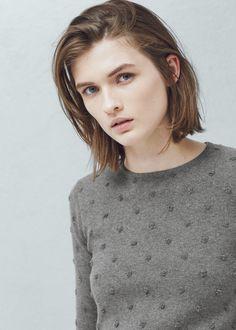 Cotton appliqués sweater | MANGO