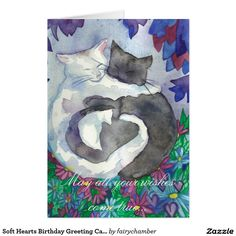 Soft Hearts Birthday Greeting Card