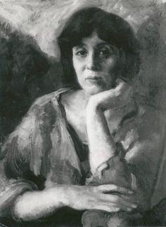 """Retrato al oleo por Olga Székely Kovácks de Elma Pâlos, hija de Gizella con quien Ferenczi tuvo un affaire amoroso-analítico. También fue analizada por Freud. Su caso se adivina detrás de varios de los """"Consejos al médico…"""" de Freud, y en particular en """"Puntualizaciones sobre el amor de transferencia"""" (Freud 1915a Sigmund Freud, Amor, Daughter, Tips"""