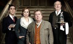 Blandings, new BBC Wodehouse, from left, Jack Farthing, Jennifer Saunders, Timothy Spall and Mark Williams.