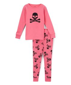 Take a look at this Pink Skull Pajamas - Infant, Toddler & Girls today!
