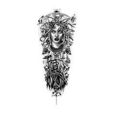 Tattoo Designs Gallery of Artwork and Videos Medusa Tattoo Sleeve Design Skull Sleeve Tattoos, Map Tattoos, Celtic Tattoos, Body Art Tattoos, Tattoo Sketches, Tattoo Drawings, Chicano Style Tattoo, Full Leg Tattoos, Overlays