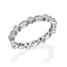 eternity ring Engagement ring eternity band by Gispandesigns