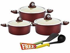Wonderchef Galaxy Set with Free Silicone Spoon and Spatula worth Rs 750 *** Click for Special Deals  #Casseroles