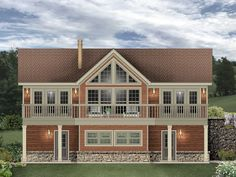 006G-0170: Carriage House Plan Designed for a Sloping Lot