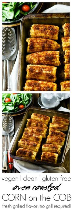 Oven Roasted Corn on the Cob   fuss-free, no grilling required   #vegan #cleaneating #glutenfree #healthy #recipe