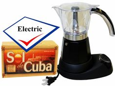 Bene Casa Electric Cuban Coffee Maker Adjustable 3 to 6 Cups Free Coffee Pack ** More info could be found at the image url.