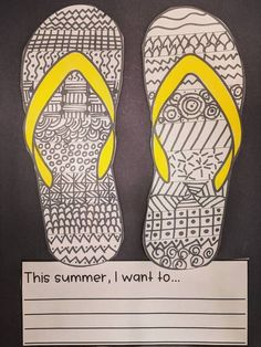 This activity is perfect for end of the year and summer! Students love to doodle and create zentangles! It will make an awesome bulletin board! Choose between flipflops or sunglasses. There are three writing prompts. My summer looks bright... This summer, I want to... This summer is going to ROCK because...