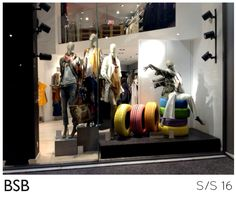 BSB Fashion Psychico store window design S/S 16