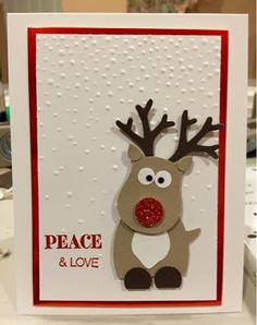 Jill's Card Creations: Reindeer Punch art