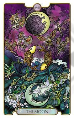 The Moon (from Revelations Tarot)... Everything under the silvery light of the moon appears different. How are your dreams inspiring you? How and when do you feel the most sensitive?